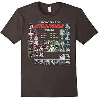 Star Wars Periodic Table Of Villains Graphic T-Shirt