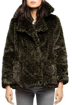 Zadig & Voltaire Miles Leopard Faux-Fur Peacoat