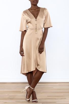 Cotton Candy Satin Wrap Dress $72 thestylecure.com