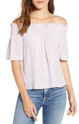 40e5d756301 7 For All Mankind Off Shoulder Women's Tops - ShopStyle