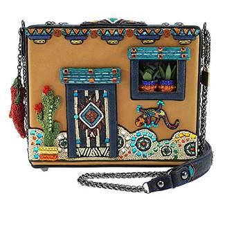 Mary Frances Adobe Embellished Western Theme Novelty Handbag