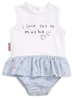 SOOKIbaby Love you Mucha Skirted Bodysuit