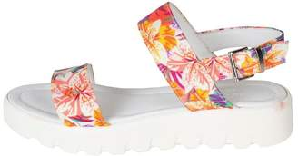 Lady Doc Floral Leather Sandals