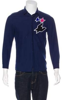 Kris Van Assche Woven Embroidered Shirt