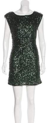 Alice + Olivia Keyhole Sequins MIni Dress