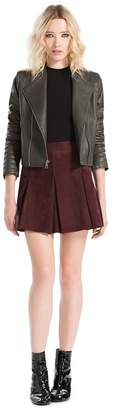 Alice + Olivia Gamma Leather Biker Jacket