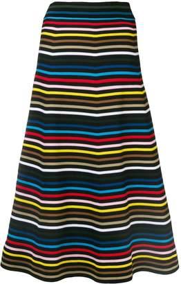 Sonia Rykiel striped A-line skirt