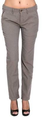 Siviglia WHITE Pants Ny Micro Pattern Cotton Regular