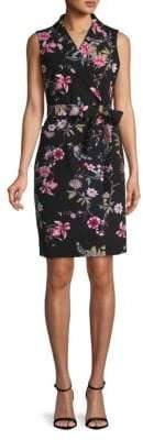 Calvin Klein Sleeveless Floral Shirtdress