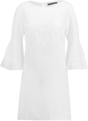 Vix Becky embroidered cotton mini dress $226 thestylecure.com