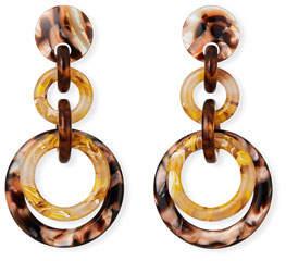 Lele Sadoughi Loop-de-Loop Acetate Earrings