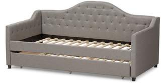 Baxton Studio Perry Modern and Contemporary Daybed with Trundle, Multiple Colors