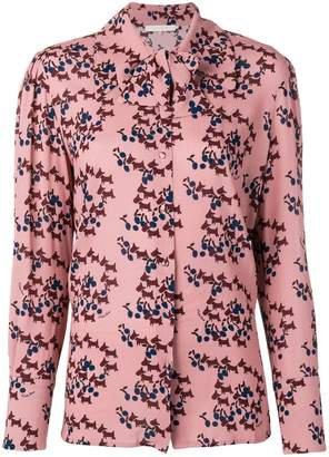 L'Autre Chose cherry dog print blouse