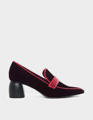 Charles & Keith Sculptural Heeled Loafers