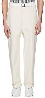 Maison Margiela Men's Gabardine Wide-Leg Painter Pants