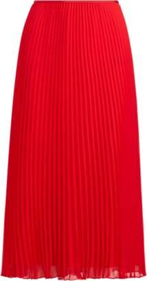 Ralph Lauren Pleated Georgette Midi Skirt