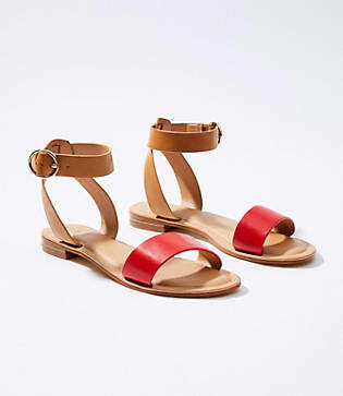 LOFT Two Tone Ankle Strap Sandals