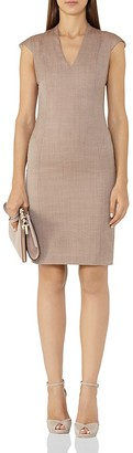REISS Turner Wool-Blend Dress $185 thestylecure.com