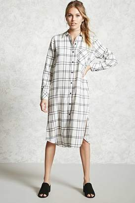 Forever 21 Contemporary Plaid Shirt Dress