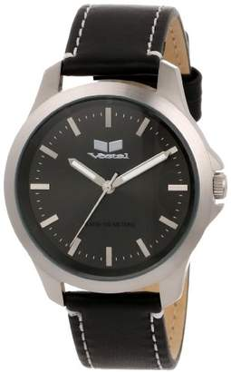 "Vestal Unisex HER3L ""Heirloom"" Stainless Steel Watch with Leather Band"
