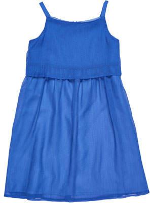 Florence Eiseman Solid Crinkle Chiffon Dress, Size 7-14