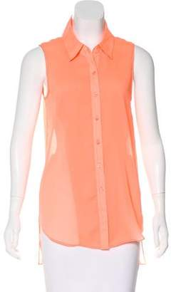 Theyskens' Theory Sleeveless Button-Up Top