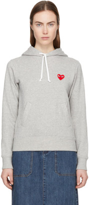 Comme des Garcons Grey Heart Patch Hoodie