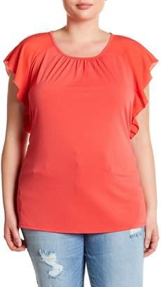 Joe Fresh Flounce Sleeve Blouse (Plus Size)