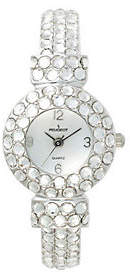 Peugeot Ladies Full Crystal Bangle Watch