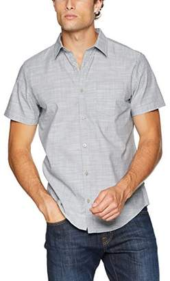 Calvin Klein Men's Short Sleeve Button Down Shirt