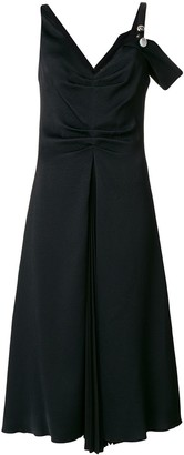 Proenza Schouler One Sleeve Open Shoulder Dress