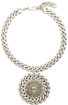 Balmain chunky medallion necklace