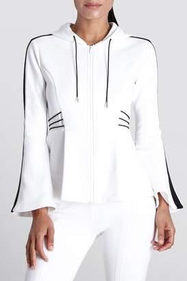 Cushnie White/Black Nela Hooded Jacket