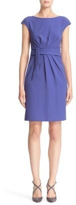 Women's Armani Collezioni Faux Tie Tech Cady Dress $975 thestylecure.com