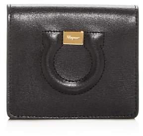 Salvatore Ferragamo Gancini City Leather Bi-Fold Card Case