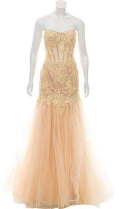 Mac Duggal Strapless Evening Gown