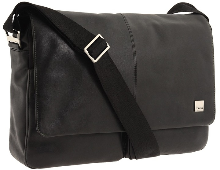 Knomo - Brompton - Kobe Soft Messenger (Black) - Bags and Luggage