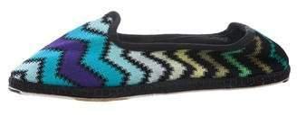 Missoni Chevron Knit Slippers