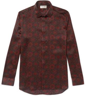Saint Laurent Printed Silk Shirt - Burgundy