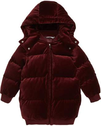 Stella McCartney Ruby Velvet Puffer Jacket