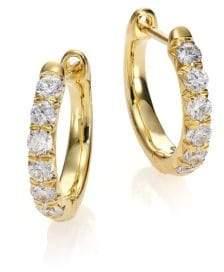 """Jude Frances Jude Diamond & 18K Yellow Gold Huggie Hoop Earrings/0.5"""""""