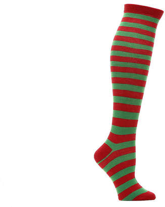 K. Bell Christmas Stripe Knee Socks - Women's