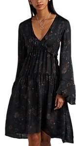 Women's Ciclone Floral Silk Midi-Dress Size 34