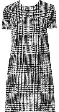 Carolina Herrera Women's Wool & Silk Houndstooth Shift Dress