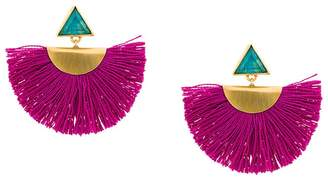 Katerina Makriyianni mini fan earrings