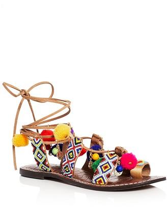 Sam Edelman Lisabeth Embellished Lace Up Gladiator Sandals $110 thestylecure.com