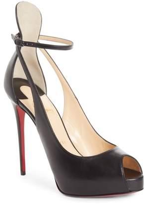 Christian Louboutin Mascaralta Ankle Strap Platform Sandal