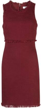 LIKELY Palmira frayed-trimmed mini dress