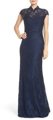 Women's La Femme Embellished Lace Gown $648 thestylecure.com