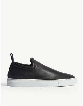 Joseph Murray leather slip-on trainers